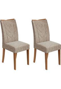 Conjunto Com 2 Cadeiras Atacama Ll Rovere E Bege