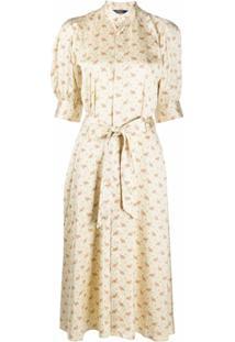 Polo Ralph Lauren Vestido De Cetim Com Estampa Floral - Neutro