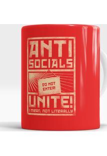 Caneca Antisocials Unite