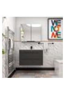 Gabinete De Banheiro Jazz 2 Gv Grafite