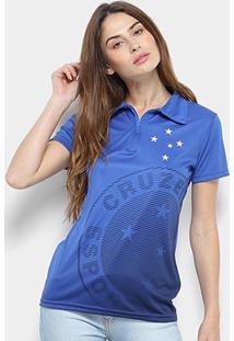 Camisa Polo Cruzeiro Shadow Feminina - Feminino