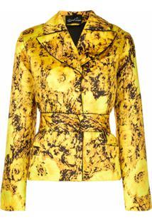 Richard Quinn Blazer Com Estampa Floral - Amarelo