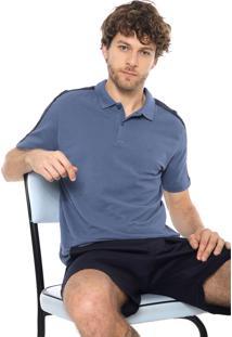 Camisa Polo Forum Reta Listras Azul