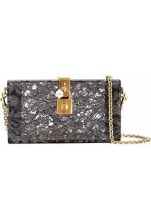 Dolce & Gabbana Clutch Modelo 'Dolce Box' - Cinza