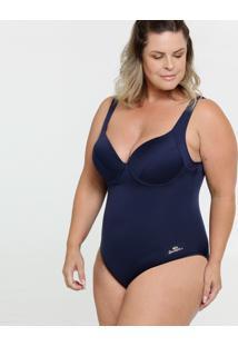 Maiô Feminino Vazado Plus Size Banho De Mar