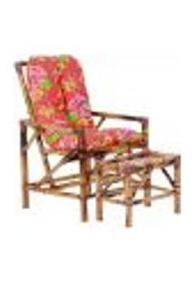Conjunto Mesa E Cadeira De Bambu Cancun Para Área Edicula Jardim G34
