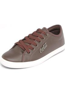 Sapatênis Coca Cola Shoes Tag Marrom