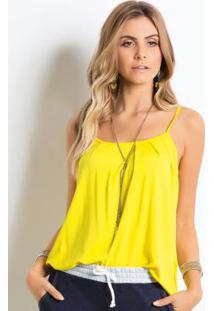 Blusa De Alça Amarela