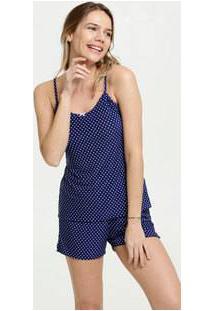 Pijama Feminino Liganete Estampa Bolinhas Marisa