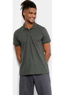 Camisa Polo Kohmar Piquet Básica Masculina - Masculino-Verde Militar