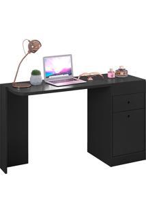 Mesa Para Computador Multifuncional Com 2 Portas E 1 Gaveta Desejo – Móveis Albatroz - Preto