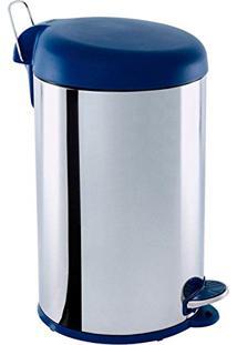 Lixeira Inox 5L Com Pedal E Com Tampa Azul 3048-262 Brinox