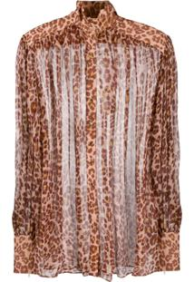 Zimmermann Blusa Com Estampa De Leopardo - Marrom
