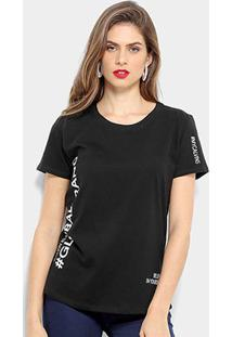 Blusa Calvin Klein Mc Hashtag Feminina - Feminino-Preto