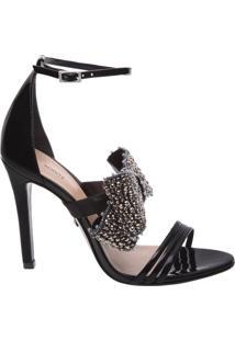 Sandália Maxi Lace Verniz Black | Schutz