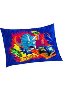 Fronha Hot Wheels®- Azul & Vermelha- 50X70Cm- Lelepper