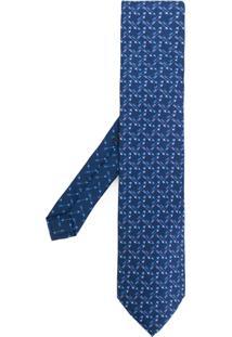 Etro Gravata De Seda E Jaquard - Azul