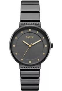 Relógio Euro Feminino Analógico Eu2035Yob/4P - Unissex-Preto
