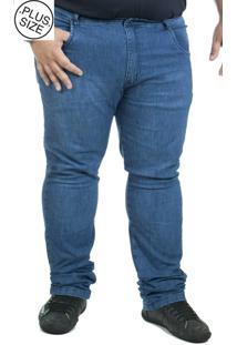 Calça Jeans Plus Size Bigshirts Stone - Azul