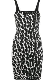 Just Cavalli Slip Dress Com Animal Print - Preto