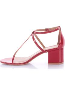 Sandália Tiana 4024-05630 Verniz Vermelho (Rubi) Vermelho