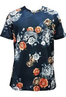 Camiseta Mcd Especial Flower Fish Azul - Masculino