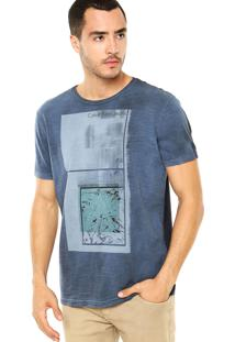 Camiseta Calvin Klein Jeans Tinturado Azul