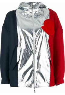 Moncler Gamme Rouge Jaqueta Oversized Color Block - Preto