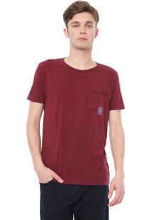 Camiseta Calvin Klein Jeans Lettering Bordô