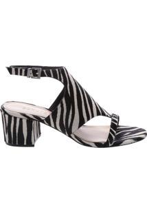 Sandália Block Heel Cover Up Zebra | Schutz