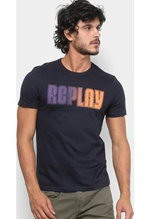 Camiseta Replay Manga Curta Degrade Masculina - Masculino