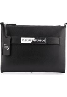 Emporio Armani Wrist-Strap Clutch Bag - Preto