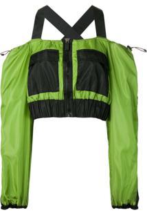 No Ka' Oi Blusa Com Recorte Vazado - Verde