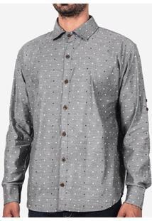 Camisa Poá Branco E Azul 200072