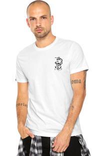 Camiseta Rusty Skullanchor Branca