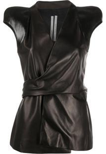 Rick Owens Blusa Com Ombros Estruturados - Preto