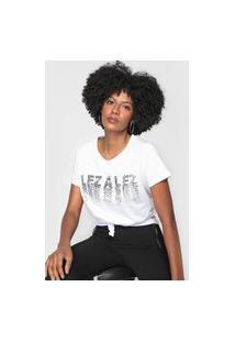 Blusa Lez A Lez Logo Metalizado Branca