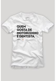 Camiseta Reserva Motorzinho Masculina - Masculino-Branco