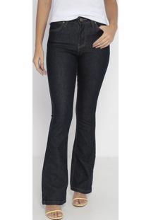 Jeans Flare Western Com Bolsos - Azul Escurowrangler