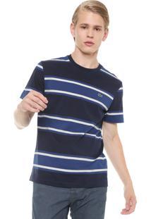 Camiseta Listrada Lacoste Azul
