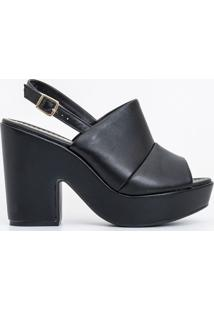 Sapato Feminino Peep Toe Salto Alto Moleca