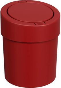 Lixeira Automã¡Tica- Vermelho Escuro- - 5L- Ccoza