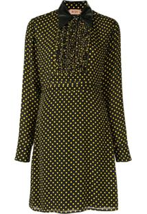 Nº21 Polka Dot Shirt Dress - Preto
