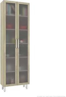 Cristaleira 2 Portas De Vidro Advanced Grigio - Móvel Bento