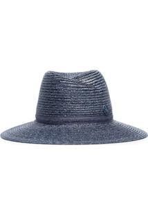 Maison Michel Blue Straw Weave Hat - Azul