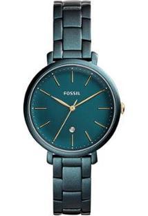 Relógio Fossil Jacqueline Feminino - Feminino-Verde