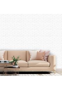 Papel De Parede Tijolos Brancos - 50Cm