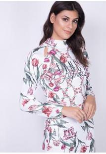 e04dc4614 ... Blusa Cropped Estampada Lança Perfume Feminina - Feminino-Vermelho