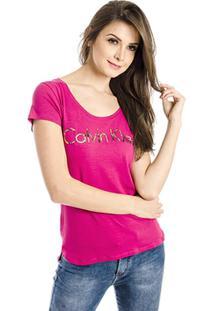 Camiseta Silk Gel Calvin Klein - Feminino-Pink