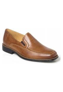 Sapato Social Masculino Side Gore Polo State - Masculino-Marrom Claro
